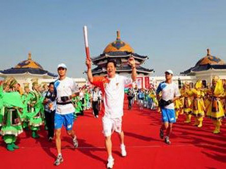 Olympic torch relay covers Ordos, Baotou
